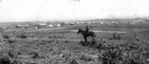 Sécurité au début de Nahalal. Yéhouda Marcovski à cheval