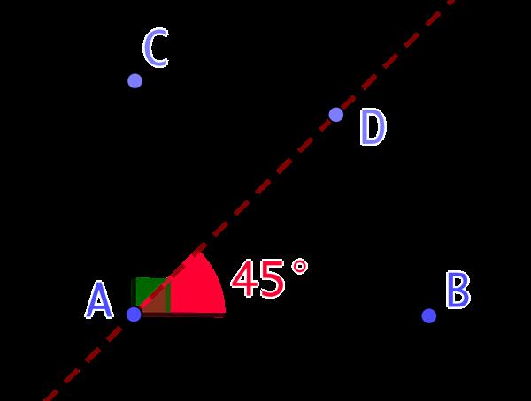 Angles de 90° et 45°