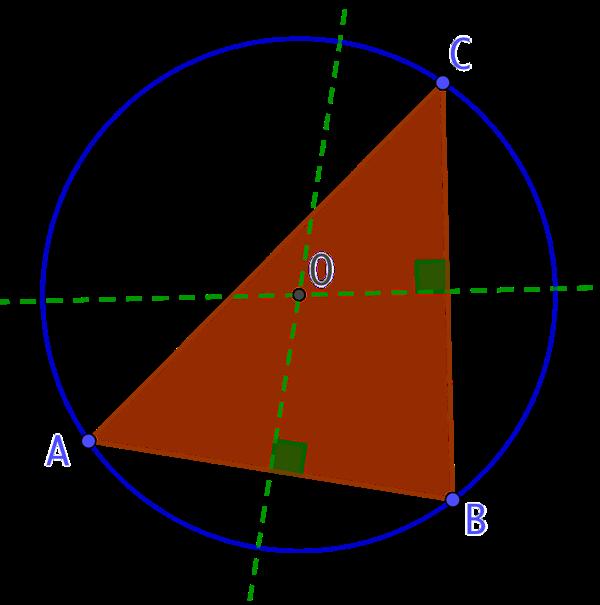 Cercle circonscrit au triangle et cercle passant par 3 points