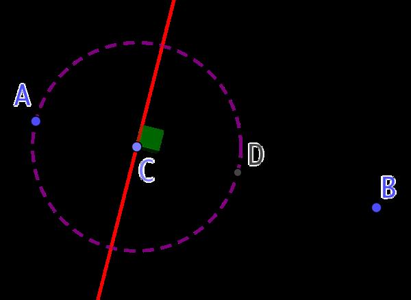 Perpendiculaire d'une droite passant par un point