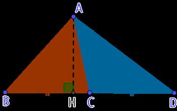 2 triangles de même aire