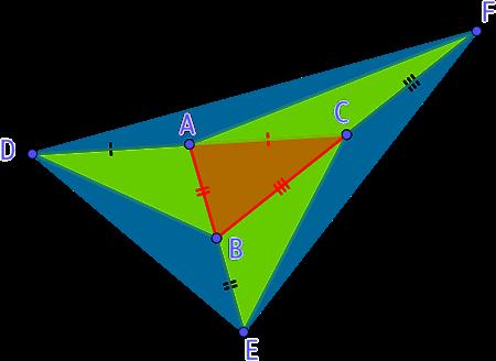 7 triangles de même aire