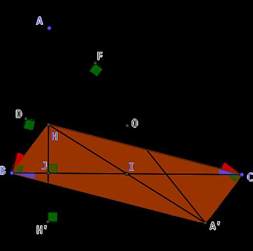 Symétrique central de l'orthocentre