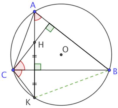 Symétrique axial de l'orthocentre