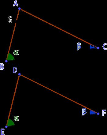 2 triangles avec deux angles de même mesure et un côté de même longueur