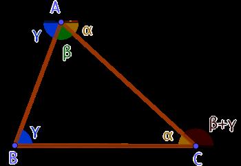Les 3 angles d'un triangle