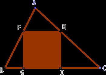 Un carré dans un triangle
