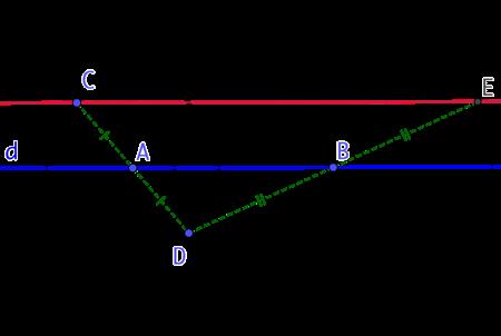 Droite parallèle à une droite (version 3)