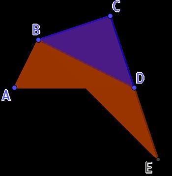 Triangle d'aire égale à celle d'un quadrilatère quelconque