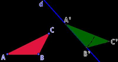 Construire un triangle isométrique à un autre