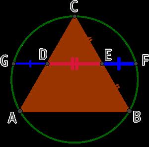 Nombre d'or et triangle équilatéral