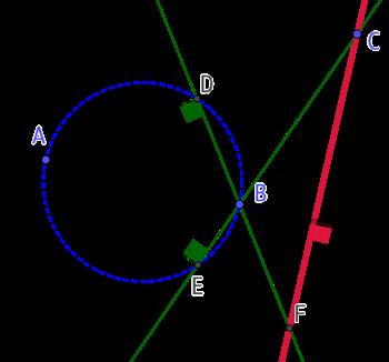Perpendiculaire d'une droite passant par un point (version 4)