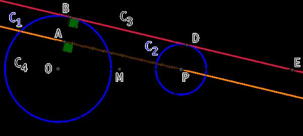 Tangentes communes à deux cercles