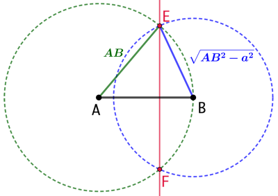Lieux géométriques des points dont les carrés des distances à deux points fixes ont une différence constante