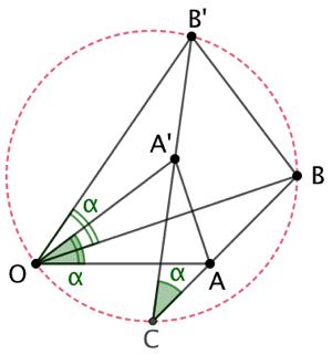 Égalité d'angles par une rotation