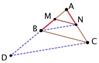 Les deux segments décalés