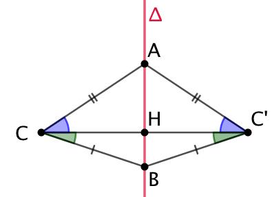 Symétrique axial d'un angle