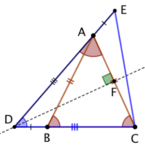 3 triangles isocèles