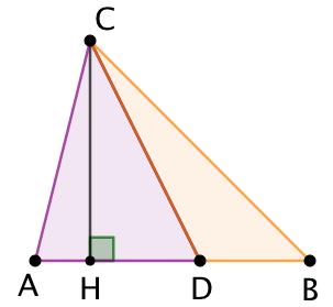Lemme des proportions : Aire proportionnelle à la base dans un triangle