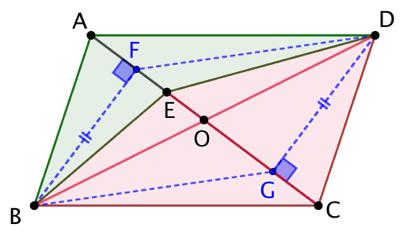 Partager un parallélogramme en 3 aires égales
