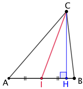Carré de la médiane d'un triangle