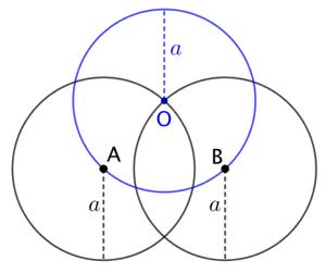 Cercle de rayon donné passant par deux points donnés