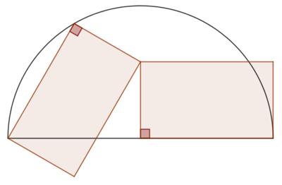Deux triangles isométriques dans un demi-cercle