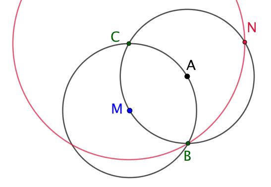 Symétrie centrale d'un point (Compas seul)