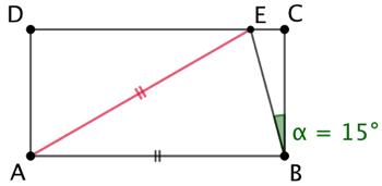 Triangle d'or dans un rectangle